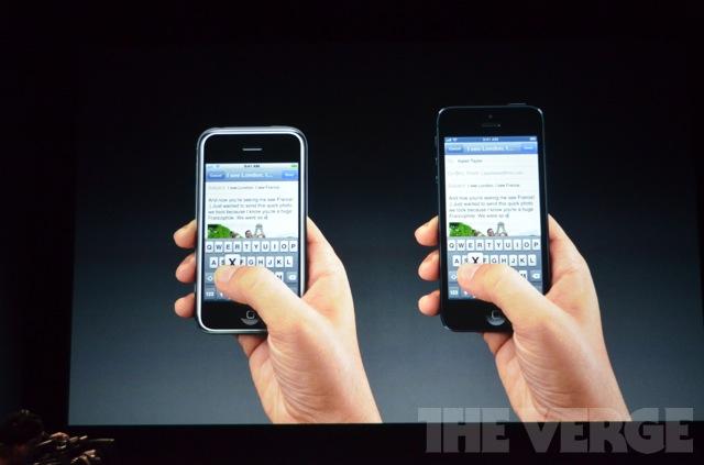 Comparação entre o iPhone 4S e o iPhone 5 (Foto: Reprodução / The Verge)