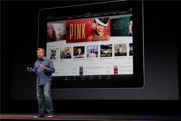 iTunes para iPad foi apresentado no evento (Foto: CNET)