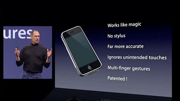 Steve Jobs lançando o iPhone em 2007 (Foto: Reprodução/Obama Packman)