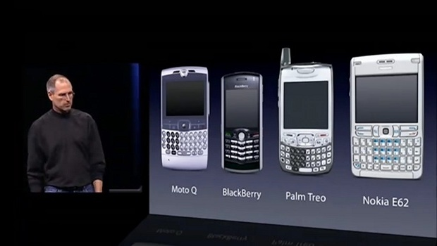Como eram os smartphones antes do lançamento do iPhone (Foto: Reprodução/Mobizoo)