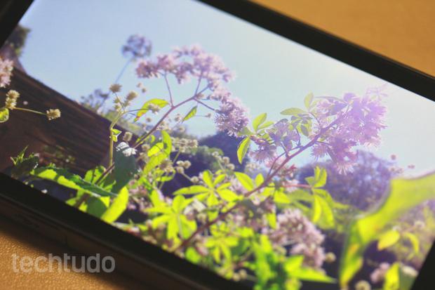 Sony Xperia S possui uma das melhores telas do mercado (Foto: Allan Melo / TechTudo)