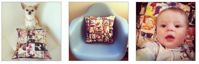 No Stitchtagram é possível criar almofadas cheias de estilo com fotografias do Instagram (Foto: Reprodução/Stitchtagram)