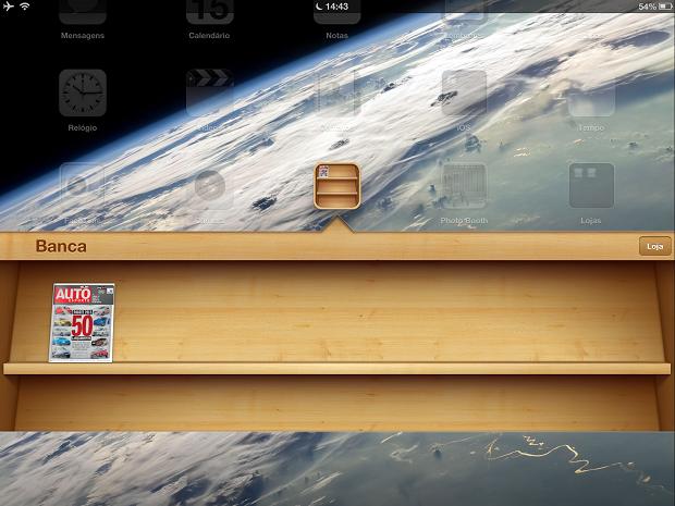 """Depois de instalado o app da revista irá para o aplicativo """"Banca"""" da Apple (Foto: Reprodução/Edivaldo Brito)"""