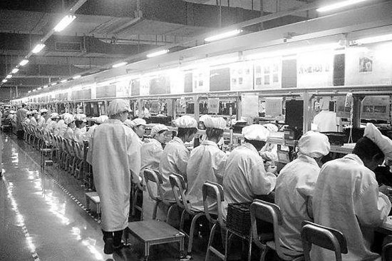 Linha de produção do iPhone 5 na Foxconn (Foto: Reprodução)
