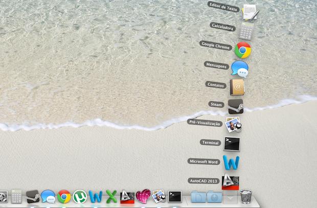 Lista de aplicativos recentes (Foto: Reprodução/Helito Bijora)