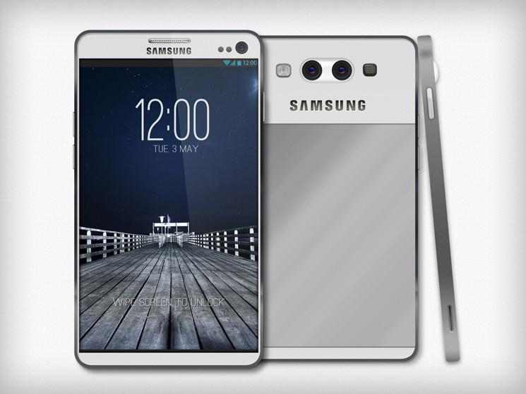 Projeção do Samsung Galaxy S4 (Foto: Reprodução)