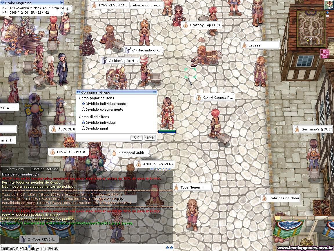 Para criar um grupo em Ragnarok Online, é preciso estar no nível 7 (Foto: Reprodução)