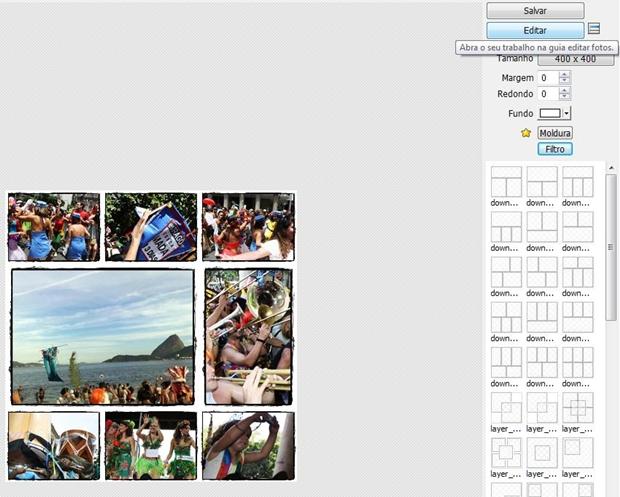 """Clique em """"Editar"""" para fazer alterações na imagem (Foto: Reprodução/ Raquel Freire)"""