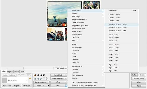 """Foto com o filtro """"Processo cruzado - Baixo"""" (Foto: Reprodução/ Raquel Freire)"""