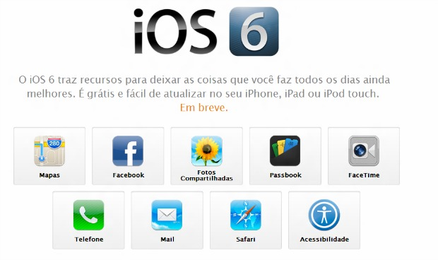 iOS 6 vai ser lançado nesta quarta-feira pela Apple (Foto: Reprodução)