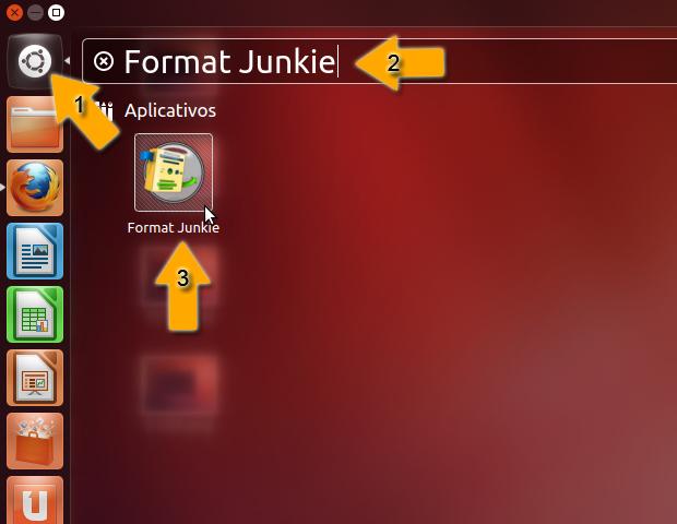 Abrindo Format Junkie no Ubuntu 12.04 (Foto: reprodução / Flávio Renato)