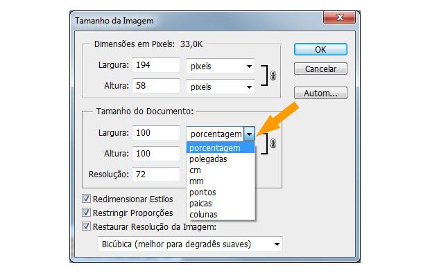 Alterando o tamanho do documento (Foto: Reprodução)