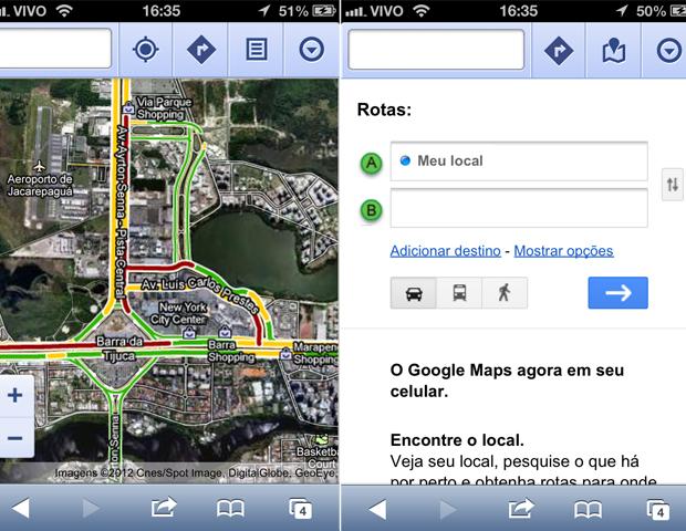 Google Maps (Foto: TechTudo)