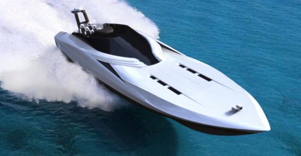 Projeto propõe uma lancha de alto desempenho e luxo, capaz de chegar a 140 km/h (Foto: Divulgação)