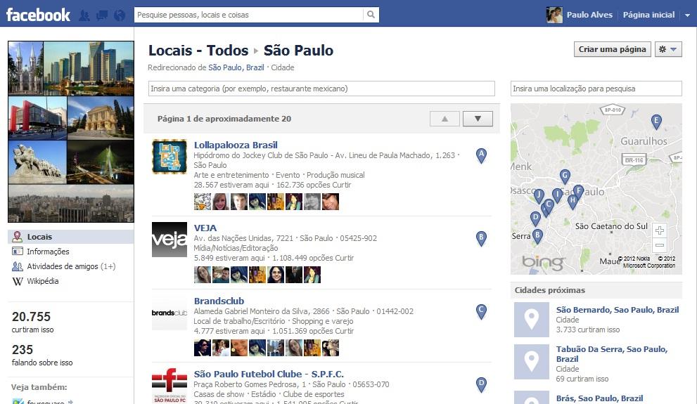 Mecanismo de busca do Facebook ainda é confuso (Foto: Reprodução/Paulo Alves)