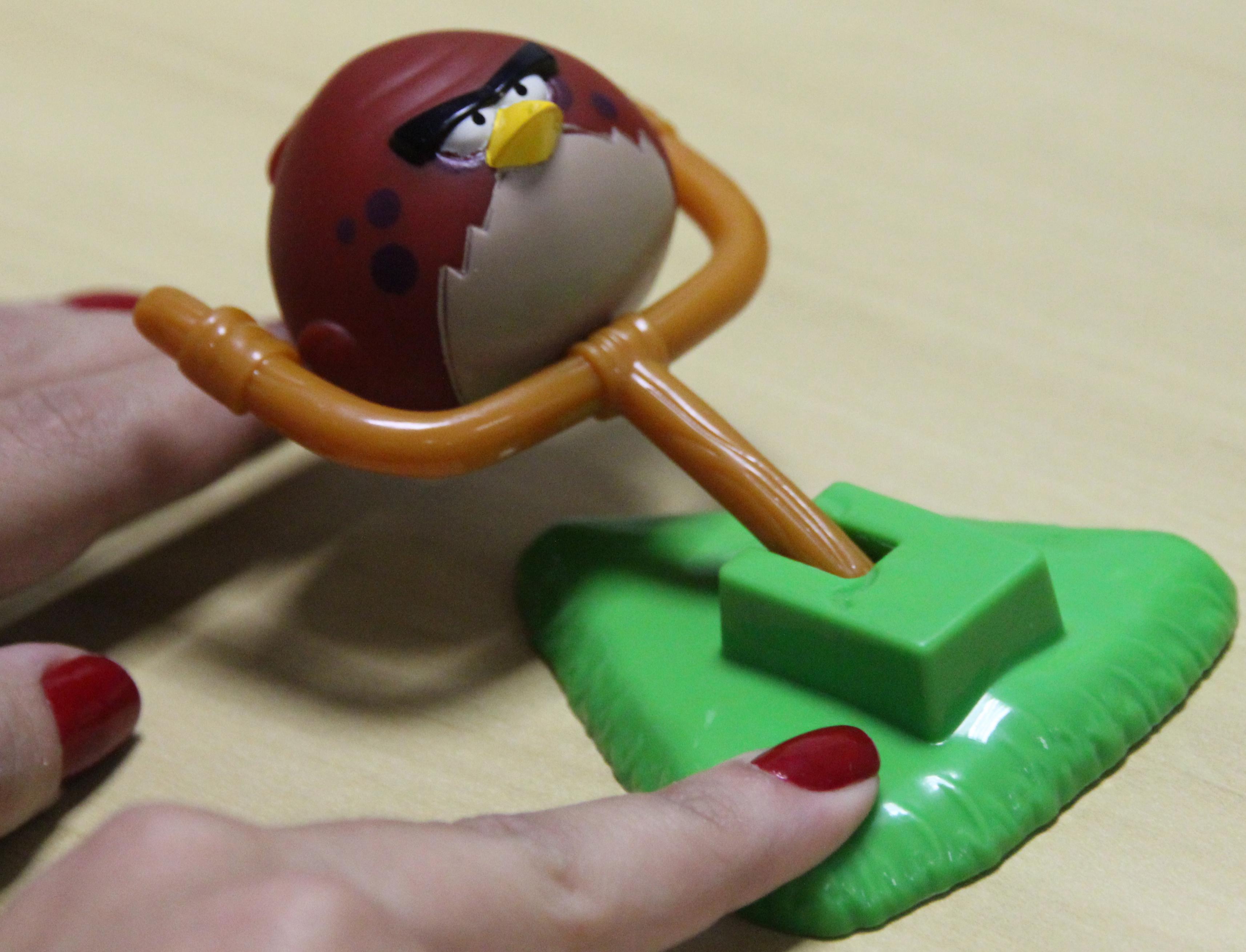 O jogo possui um lançador para os pássaros serem arremessados (Foto: TechTudo)