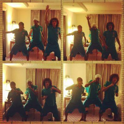 Até dancinha jogadores publicaram no Instagram (Foto: Reprodução)