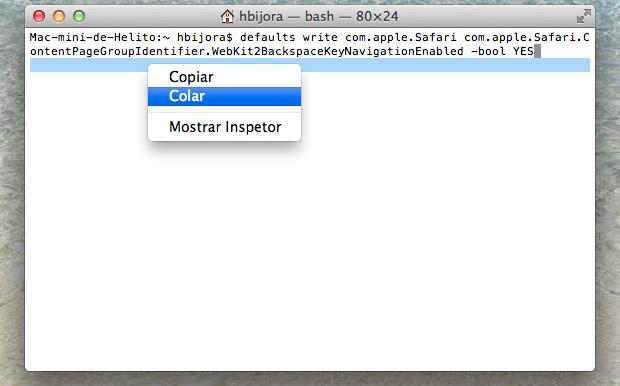 Entrando com código no Terminal (Foto: Reprodução/Helito Bijora)