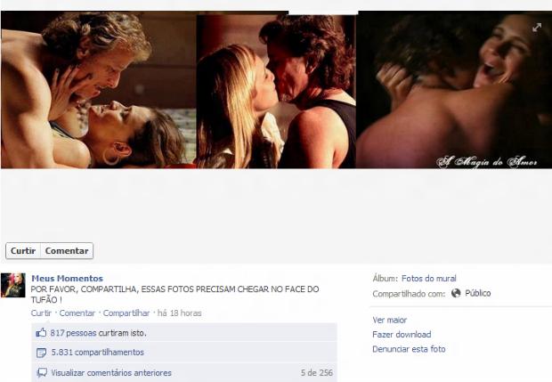 Fotos de Carminha e Max caíram no Facebook (Foto: Reprodução)