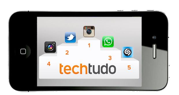 Ranking dos aplicativos mais usados pelos famosos (Foto: TechTudo)