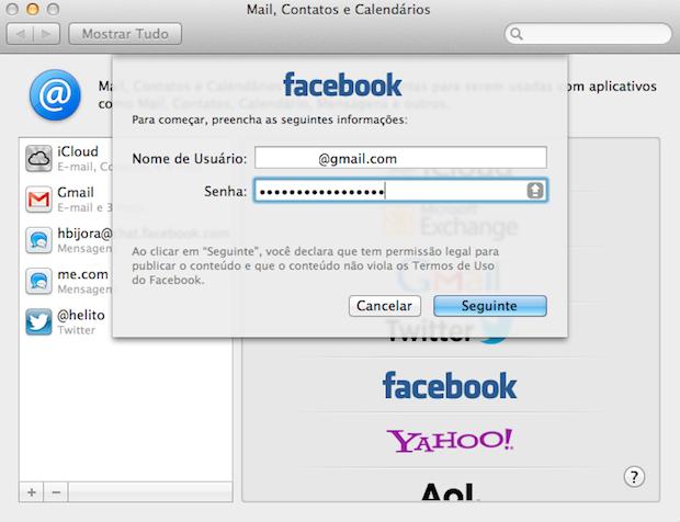 Entre com seu e-mail e senha do Facebook (Foto: Reprodução/Helito Bijora)