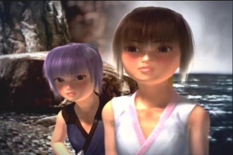 Ayane e Kasumi, como crianas (Foto: Divulgao)