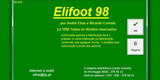 Elifoot 98 foi o grande hit da série (Foto: Reprodução)