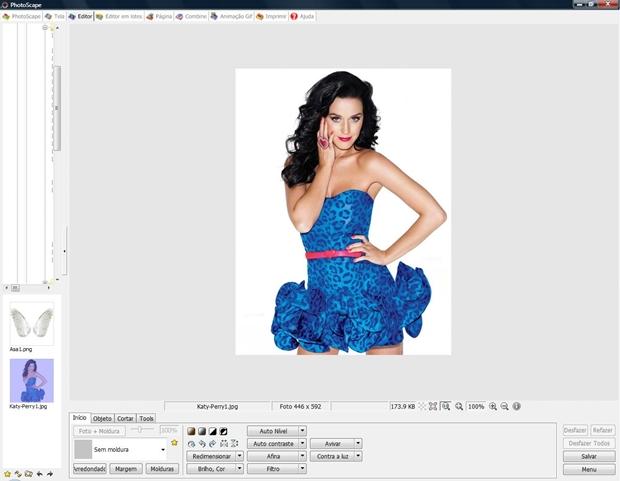 Carregue a imagem base no menu Editor (Foto: Reprodução/Raquel Freire)
