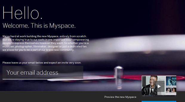 Nova página do Myspace exibe vídeo com Justin Timberlake (Foto: Reprodução/Edivaldo Brito)