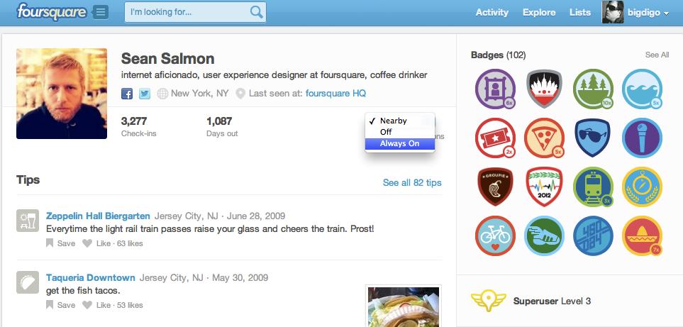 Novidade no Foursquare permite escolher de quem você vai receber notificações de check-ins (Foto: TechTudo)