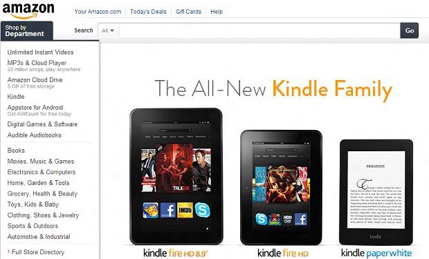 Amazon está próxima de chegar ao Brasil (Foto: Reprodução) (Foto: Amazon está próxima de chegar ao Brasil (Foto: Reprodução))