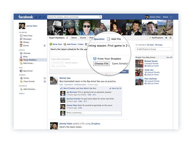 Dropbox anunciou parceria com o Facebook (Foto: Reprodução)