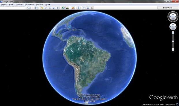 Google Earth leva imagens de satélite e modelagens em 3D para o computador do usuário (Foto: Reprodução/Ricardo Fraga)