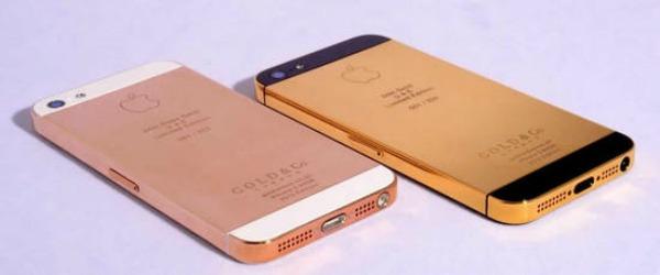 iPhone 5 de ouro  um produto de luxo e personalizado (Foto: Divulgao)
