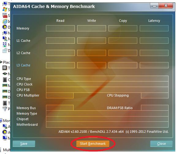 Testando o desempenho das memórias e do cache (Foto: Reprodução/Edivaldo Brito)