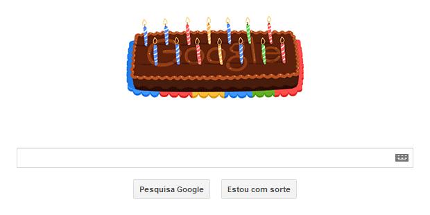 O 14º aniversário do Google é comemorado com Doodle animado (Foto: Reprodução/Google)