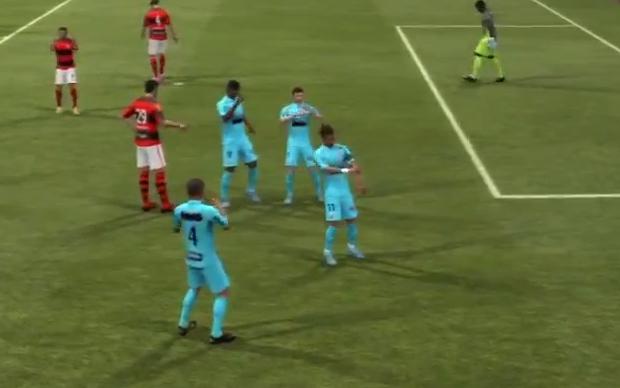 Neymar dança Ai se eu te Pego em Fifa 13 (Foto: Reprodução TechTudo)