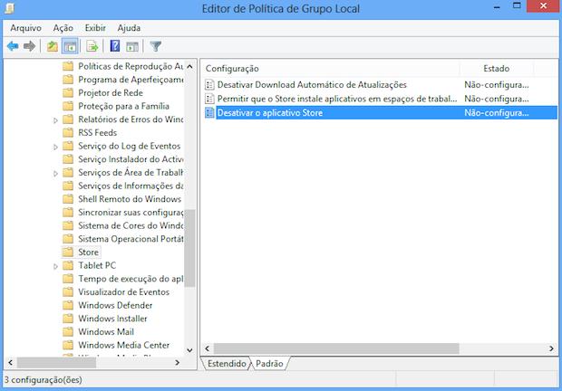 Editor de políticas do Windows 8 (Foto: Reprodução/Helito Bijora)