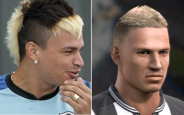 Assim como em Fifa 13, Fábio Ferreira perdeu seu famoso penteado (Foto: Reprodução TechTudo)