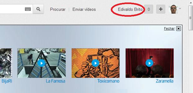 Acessando o menu de opções do YouTube (Foto: Reprodução/Edivaldo Brito)