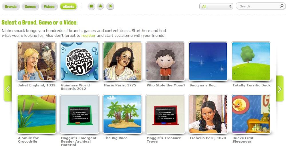 eBooks da rede social Jabbersmack (Foto: Reprodução)
