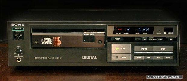 Sony CDP-101, primeiro CD player (Foto: Reprodução)