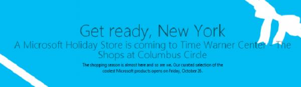 Anúncio da inauguração das lojas está no site da Microsoft (Foto: Reprodução)