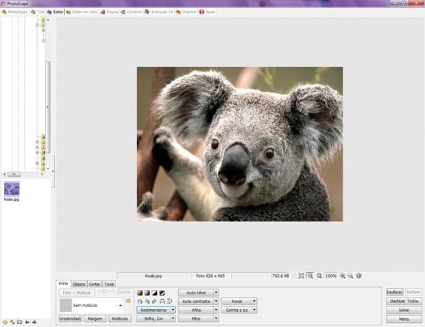 Carregue a imagem em que deseja aplicar o efeito (Foto: Reprodução/ Raquel Freire)