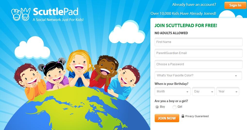 Página para cadastro na rede social ScuttlePad (Foto: Reprodução)