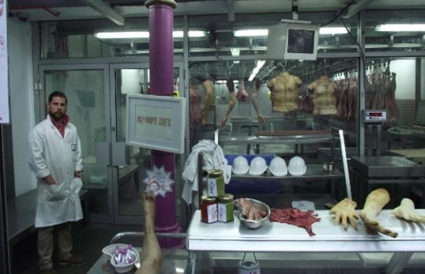 Capcom abre açougue humano para promover Resident Evil 6 (Foto: VentureBeat)
