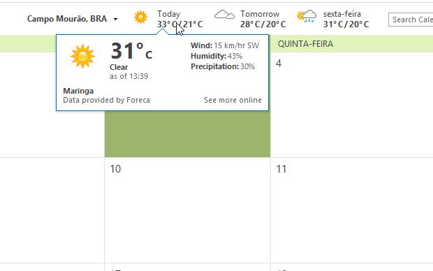 Temperatura em Celsius (Foto: Reprodução/Helito Bijora)