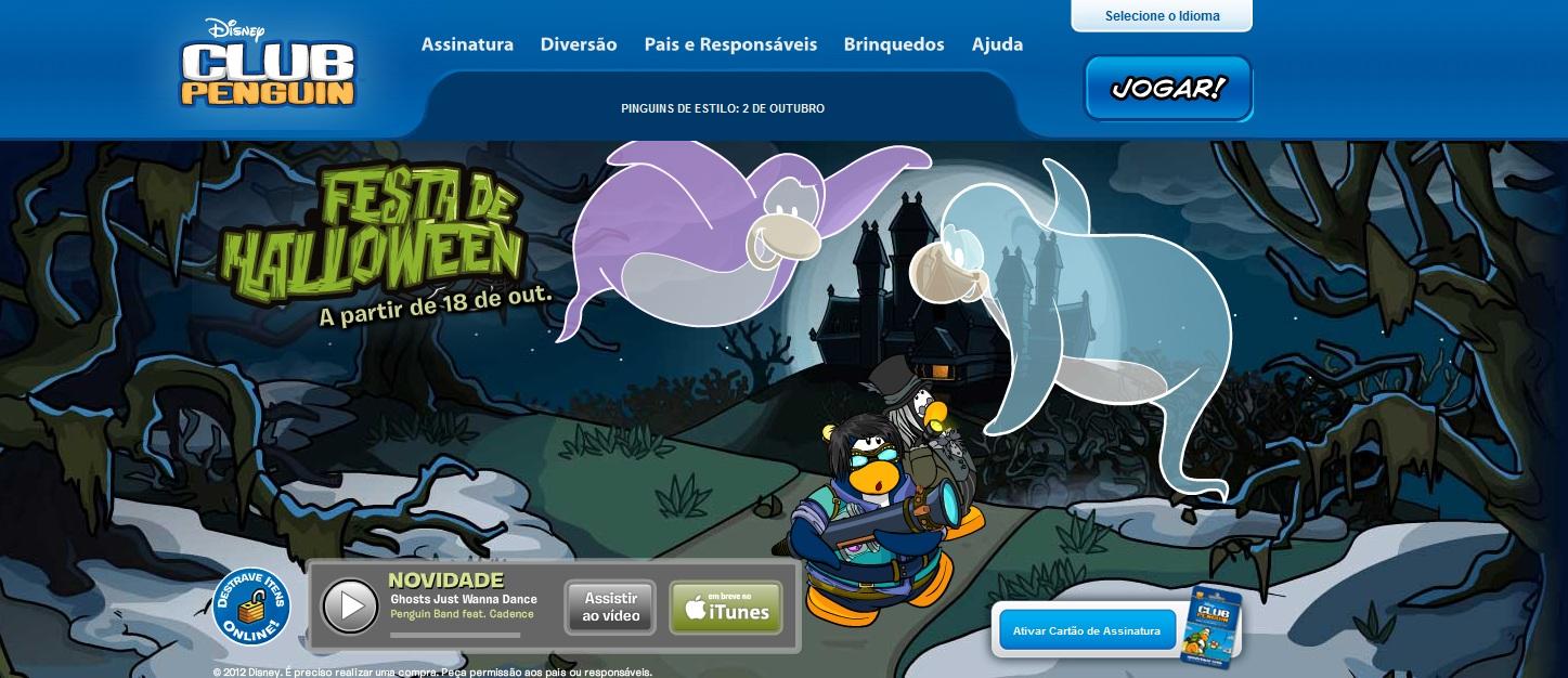 Aparência do site Club Penguin (Foto: Reprodução)