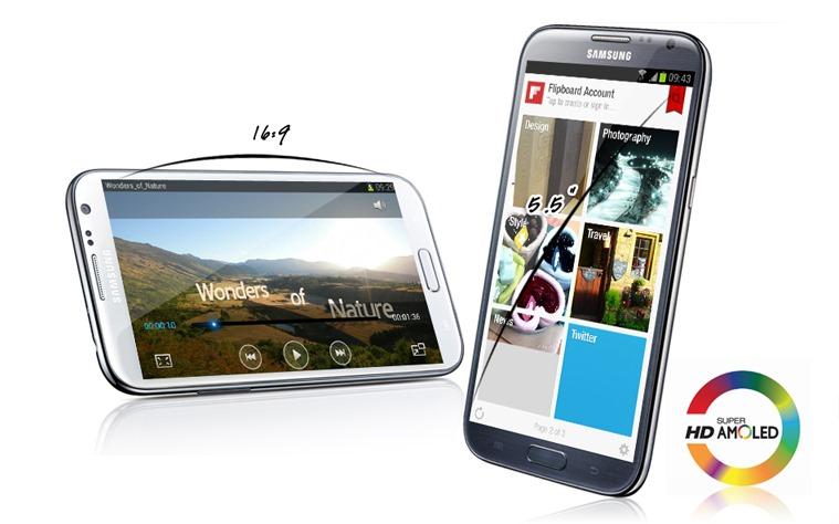 Tela Super Amoled HD e processador Exynos 4 equipam o Note 2 (Foto: Reprodução)