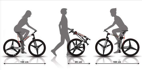 Essa bicicleta poderia ser transportada em lugares um mais movimentados (Foto: Reprodução/Mahdi Momeni)